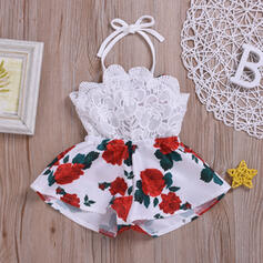 Baby Girl Floral Lace Print Cotton Dress