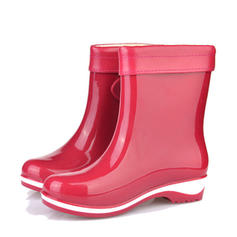 Women's PVC Chunky Heel Boots Rain Boots With Colorblock shoes
