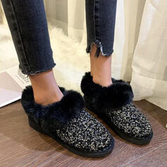 Women's Cloth Flat Heel Flats Sneakers With Rhinestone shoes