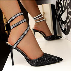 Women's Sparkling Glitter Stiletto Heel Pumps With Solid Color shoes