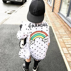 Toddler Girl Letter Print Cotton Outerwear