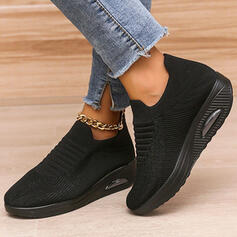 Women's Cloth Mesh Flat Heel Flats Sneakers With Lace-up Elastic Band Print shoes