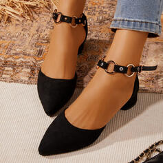 Women's Leatherette Chunky Heel Mary Jane Heels With Buckle shoes