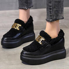 Women's Leatherette Flat Heel Sneakers With Solid Color shoes