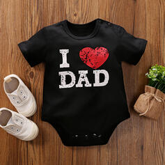 Baby Letter Heart Print Cotton One-piece