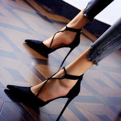 Women's Suede Stiletto Heel Pumps With Solid Color shoes