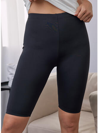 Solid Above Knee Casual Sporty Pants